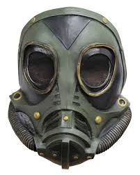 Halloween Gas Mask Costume Steampunk Latex Gas Mask Green Sci Fi Costumes Horror Shop