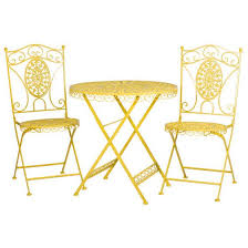 Yellow Bistro Chairs Beautiful Yellow Bistro Table With Marvelous Yellow Bistro Table