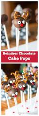 reindeer chocolate cake pops recipe chocolate cake pops moist