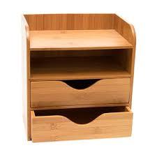 Bamboo Desk Organizer Bamboo 4 Tier Desk Organizer Reviews Allmodern