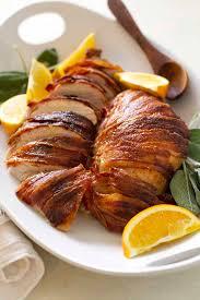 bacon turkey thanksgiving bacon wrapped maple bourbon turkey breast versus dough
