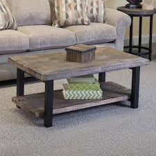 gray reclaimed wood coffee table living room inspirations reclaimed wood iron coffee table diy