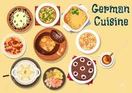 cuisine allemagne cuisine allemande bière et fondue au fromage icône servi avec la