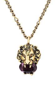 purple fashion jewelry necklace images Gucci lion head pendant necklace barneys new york