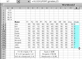Grade Book Template Excel An Excel Worksheet As A Grade Book
