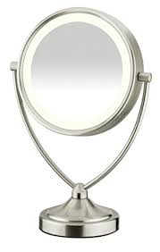conair chrome magnifying countertop vanity mirror with light best double sided lighted magnifying makeup mirrors