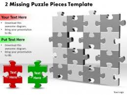 3d 2x2 missing puzzle piece template powerpoint templates