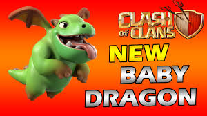 coc wallpaper clash of clans new update baby dragon hype youtube