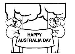 printable happy australia day coloring page coloringpagebook com