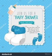 Baby Shower Invitations Card Baby Shower Invitation Card Stock Vector 522525811 Shutterstock