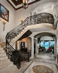 Wrought Iron Stair by Wrought Iron Stair Railings For Stunning Interior Staircases
