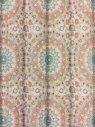 Brown And Teal Shower Curtain by Cynthia Rowley Teal Turquoise And Tangerine Tapestry Medallion