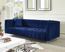 Corner Sofa Velvet Sofa Chesterfield Style Sofa Leather Corner Sofa Big Sofa Blue