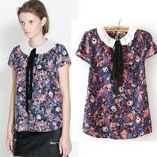 shirts and blouses cheap wholesale 2015 pan collar chiffon