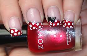 disney minnie mouse nail art simple disney nail art nails