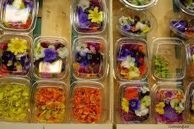 les fleurs comestibles en cuisine le de clementine salade aux fleurs comestibles