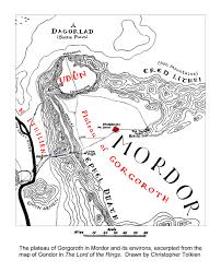 Map Of Mordor Road To Barad Dûr Places Henneth Annûn