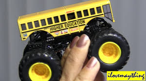 monster trucks jam videos unboxing monster jam truck higher education youtube