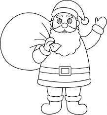 coloring pages of santa claus drawing cloudpix