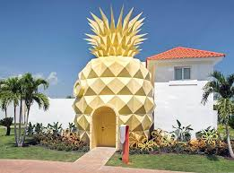stay in a spongebob squarepants themed pineapple hotel at the