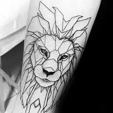 tattoo geometric outline 60 geometric lion tattoo designs for men masculine ideas
