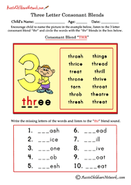 three letter blends beginning consonant blends aussie