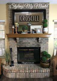 Decorating Ideas For Fireplace Mantels And Walls DIY With Regard