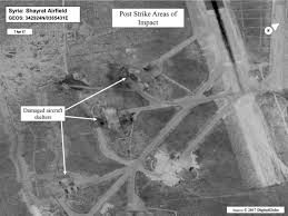 Yokota Air Base Map U S Attacks Syrian Air Base