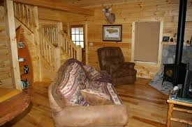log cabin floors rustic hickory in a log cabin