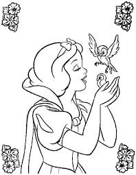 printable free disney princess snow white colouring pages kids