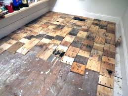 redoing a floor with free pallet wood hometalk