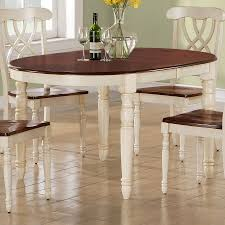 shop monarch specialties antique white walnut oval dining table at