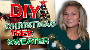 christmas tree sweater with lights diy ugly christmas tree sweater youtube