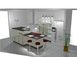 ilot cuisine bar ambiance cuisine meubles contarin