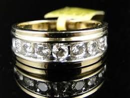 Mens Gold Diamond Wedding Rings by 10k Yellow Gold Mens Gold Genuine 9 Mm Diamond Wedding Band Ring