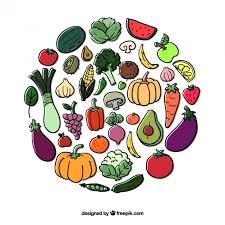 imagenes gratis de frutas y verduras círculo de frutas y verduras descargar vectores gratis
