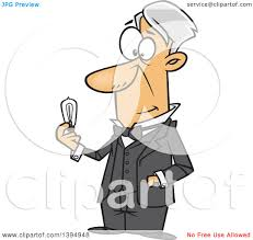 clipart of a cartoon man thomas alva edison holding an electric