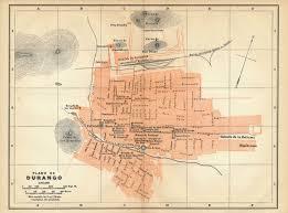 Map Of Durango Mexico by 1911 Durango Mexico Antique Map