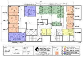 office layout plan with 3 common areas officelayout office
