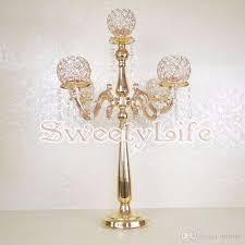 wedding table decorations candle holders best 75cm tall table centerpiece 5 balls crystal candelabra candle