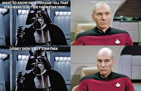 Star Wars Disney Meme - meme star wars vs star trek by silverbuller on deviantart
