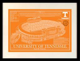 Tn Blueprints by Tennessee Neyland Stadium In Colors Stadium Blueprint