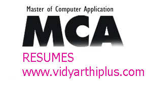 download best resume format for mca freshers master of computer application mca resume format and sles