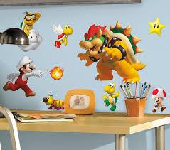 Super Mario Bedroom Decor Super Mario Bros Nintendo Wall Graphics
