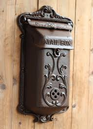 Bronze Wall Mount Mailbox Wall Mounted Mailbox Free Postmaster In X In Metal Satin Nickel