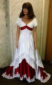 Red Wedding Dresses Off Shoulder Wedding Dresses With Cap Sleeves