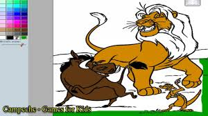 lion king online coloring pages simba timon and pumbaa 140 youtube