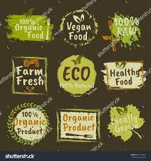 organic products vegan food set vector stock vector 516518866