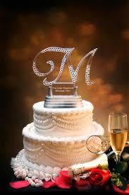 letter wedding cake topper