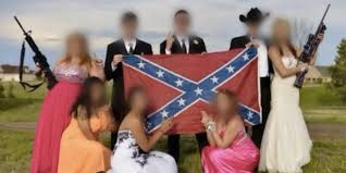 Rebel Flag Image Confederate Flag Prom Photo With Gun Toting High Schoolers